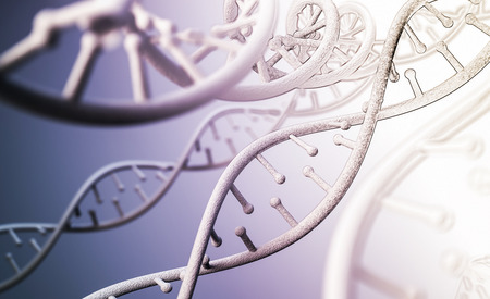 circuito de ADN humano en el fondo abstracto. Representación 3d