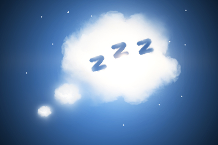 Abstract sleep cloud background. Bed time concept Stock Photo