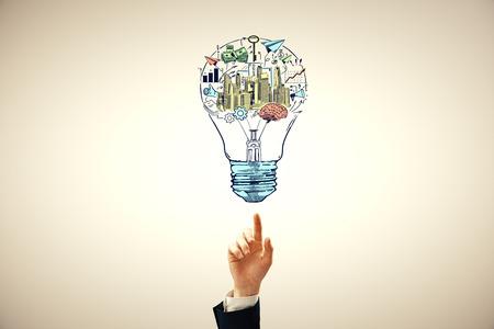 Hand drawing business idea concept. Banque d'images