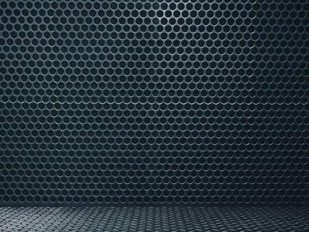 High definition black grunge metal wall texture. Mock up, 3D Rendering