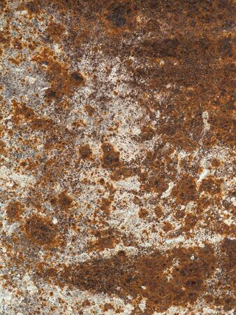 Rusty grungy metallic brown dirty rough surface