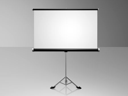 white conference screen Stock Photo - 5629879