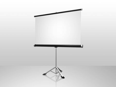 white conference screen Stock Photo - 5629883