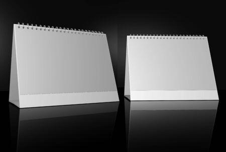 registry: White daily planner, blank or calenda