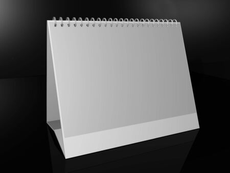 White daily planner, blank or calenda photo