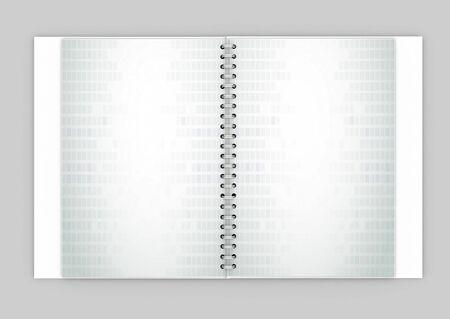 White daily planner, blank or calendar photo