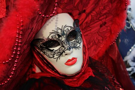 People in mask during Venice Carnival