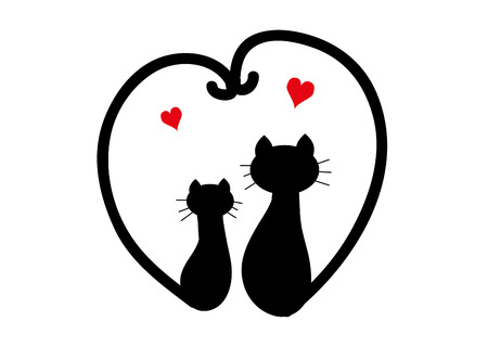 Cats in love