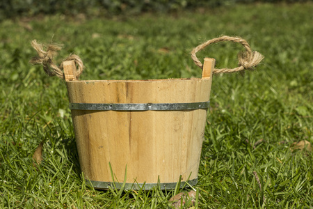 rustical: Rustical pail on the grass