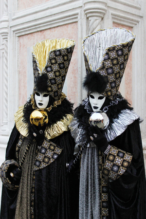 Venice Carnival Mask Gold and silver