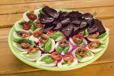 caprese: Caprese salad and beetroot Stock Photo