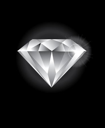 diamond: Sparkling diamond Illustration