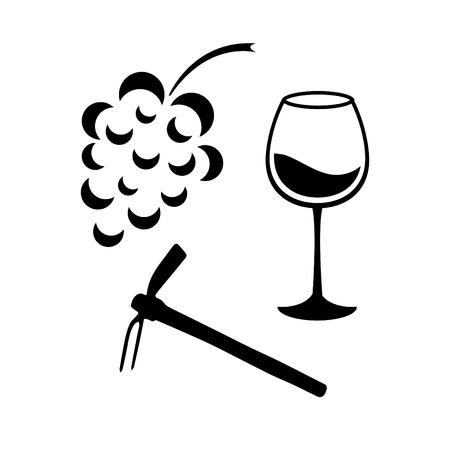 grape harvest: Grape harvest Illustration