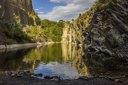 Lake with rocks Stock fotó