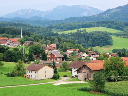 A picturesque village in the bavarian Alps photo