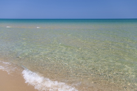 Clear, transparent water washing a sandy beach on the Black sea coast Stock Photo - 11784538