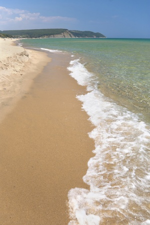 The wild beach and transparent waters of Irakli area on the Black sea coast Stock Photo - 12271110