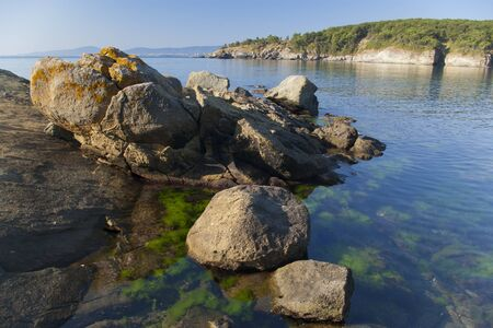 Calm waters of the Black Sea near Primorsko on a sunny summer morning Stock Photo - 12888890