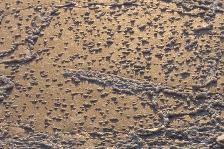 evaporacion: Hermosa textura creada por los cristales de sal se forman en el proceso de evaporaci�n natural del agua de mar.