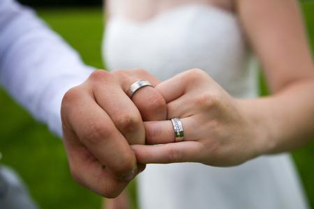 vows: wedding rings Stock Photo