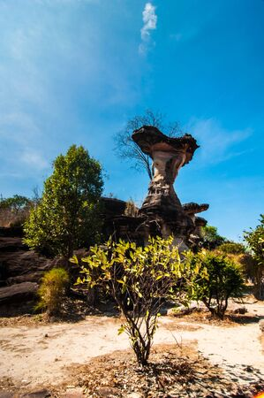 occur: Rocks that occur naturally on blue sky background,at thailand.