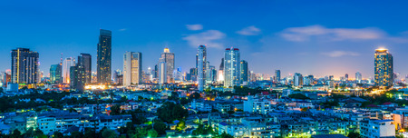 bangkok city: Panorama landscape nightlife view bangkok city