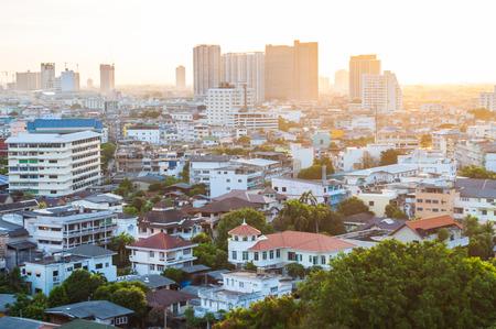 bangkok city: Twilight view bangkok city. Stock Photo
