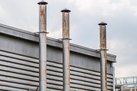 shaft: ventilation shaft pipes Stock Photo