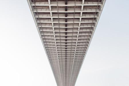bhumibol: Twilight under view Bhumibol highway Bridge Stock Photo