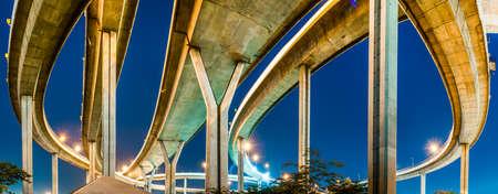bhumibol: Bhumibol highway Bridge Twilight under view.