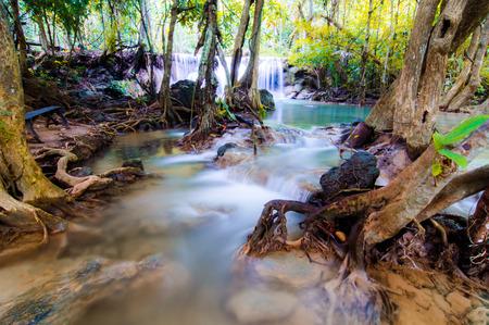 huay: Huay Mae Kamin Waterfall National Park, Kanchanaburi Stock Photo