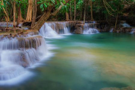 Huay Mae Kamin Waterfall National Park, Kanchanaburi Archivio Fotografico