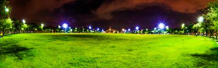 the emerald city: panorama Sanam Luang at twilight Stock Photo