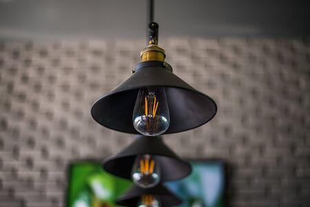lamp light: Beautiful light lamp glowing Stock Photo