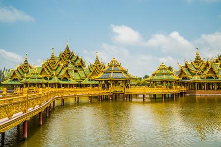 pavillion: Pavillion of the Enlightened, Ancient City, Samutprakarn,Thailand. Stock Photo