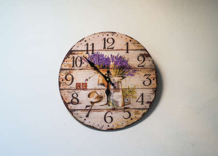 round the clock: Round clock on wall Stock Photo