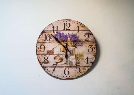 round: Round clock on wall Stock Photo