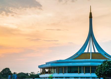 ix: Twilight Pavilion landmark of Suan Luang Rama IX Public Park, Bangkok, Thailand Stock Photo