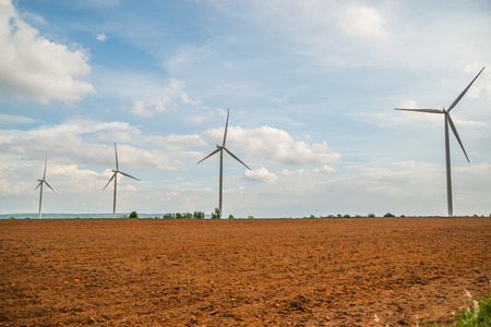 rural development: Group Large wind turbines in Thailand