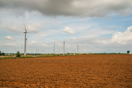 Wind power installations in agriculture the country at thailand