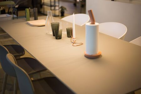 on the table: Dining Table Stock Photo
