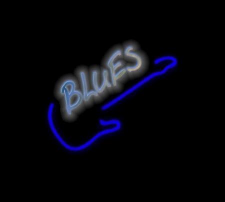 blues music: Blues guitar logo Stock Photo