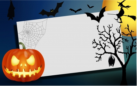 haloween: Halloween giftcard Illustration