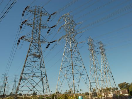 electrical power: high voltage electrical power towers