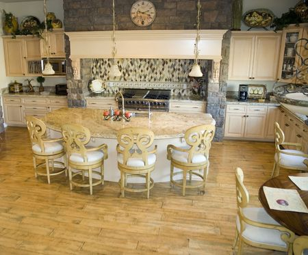 modern style kitchen in executive home photo