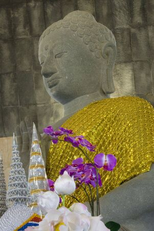 Buddha statue at Doi Intanond state park,Thailand photo