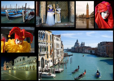collection of images with Venice,Italy theme photo
