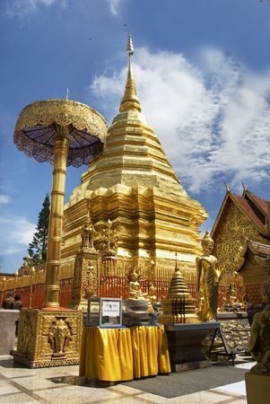 Thai Buddhist Temple at Doi Suthep in Chiang Mai photo