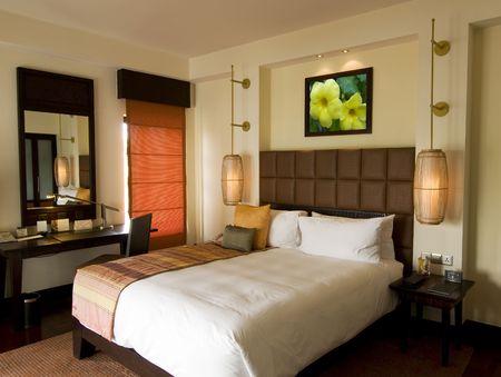 Thai style resort bedroom  photo