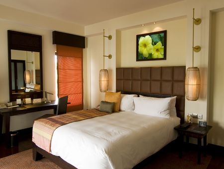 thai style: Thai style resort bedroom